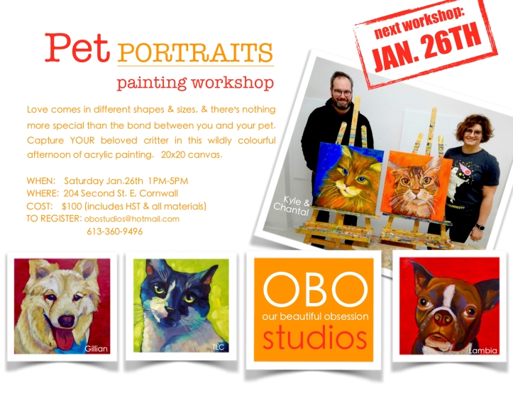 OBO Workshop Pet Portraits Jan 26th 2019 jpg