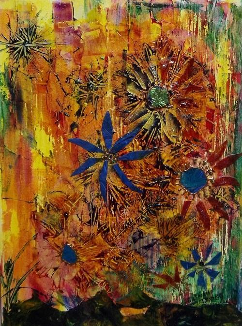 S Irving My Midsummer Garden mixed media