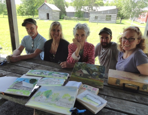 Pioneer Museum sketchers Jul19
