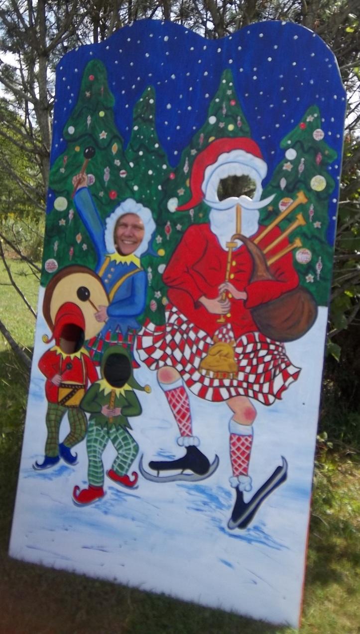 Santa in kilt